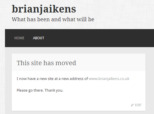 Old site to new site