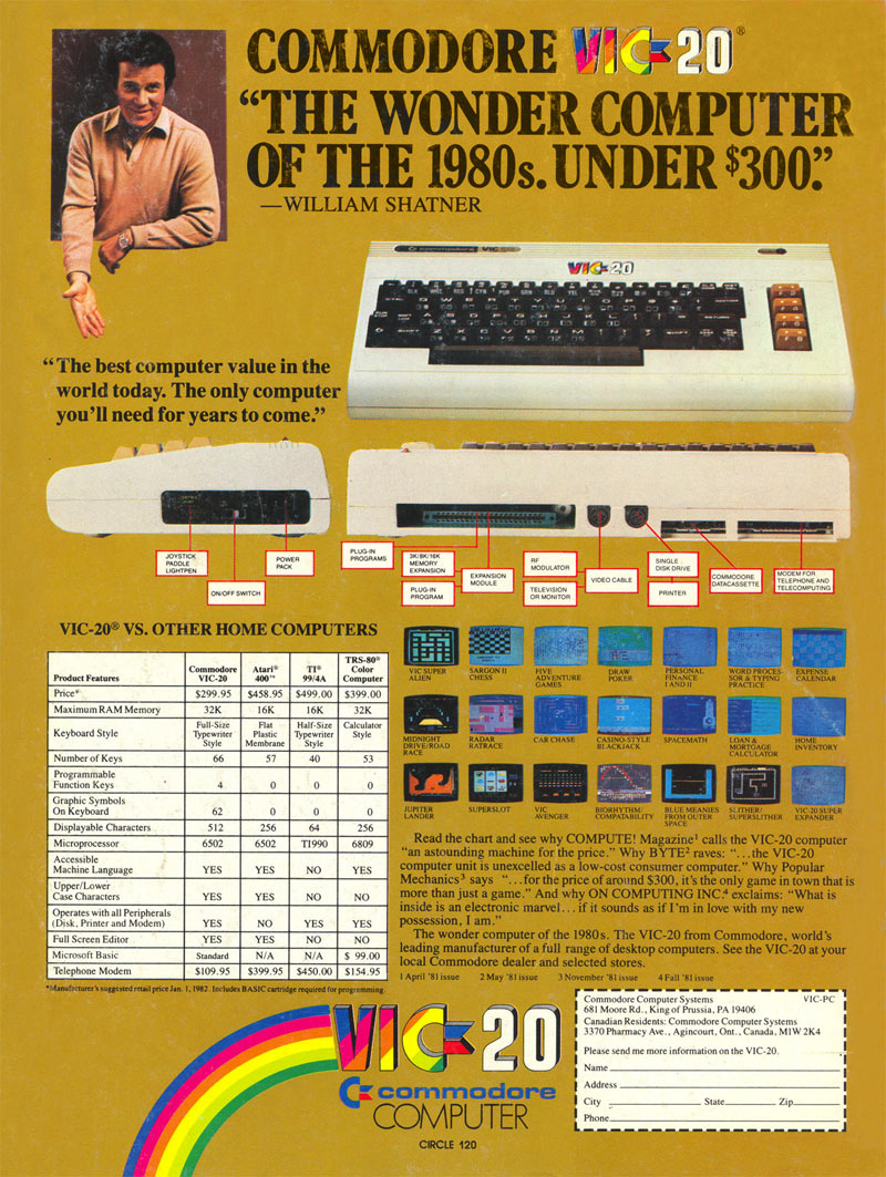 Commodore VIC-20. If it was good enough for William Shatner it was good enough for us future developers