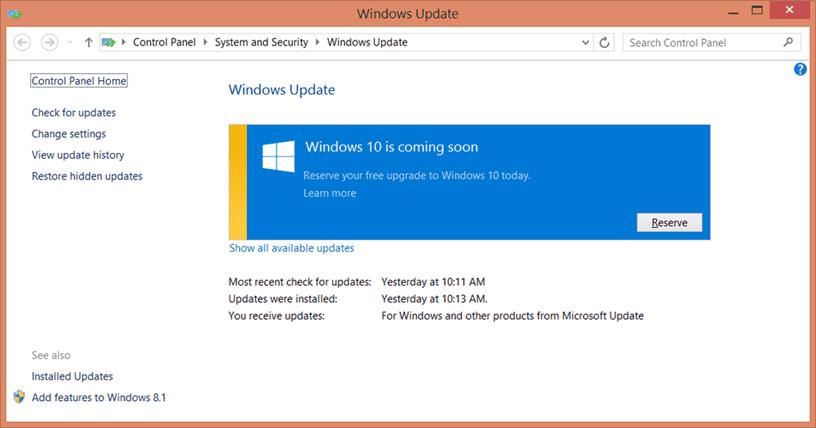 Windows 10 is coming soon