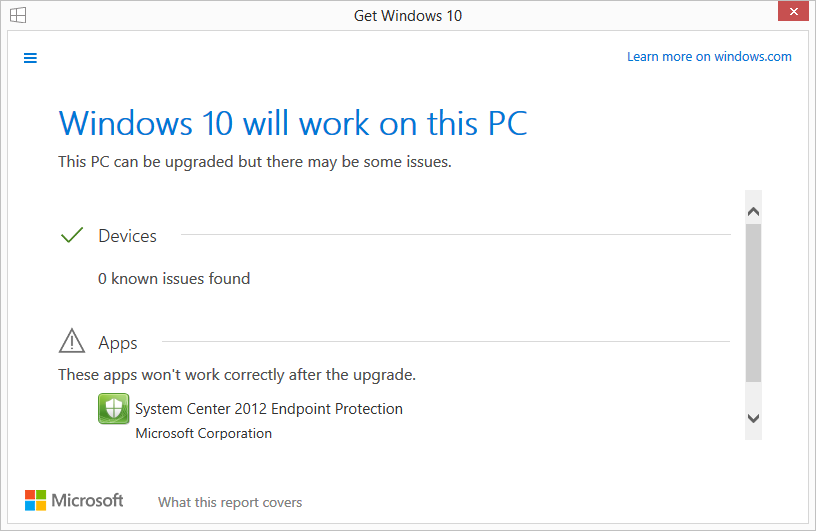Windows 10 will work on this PC