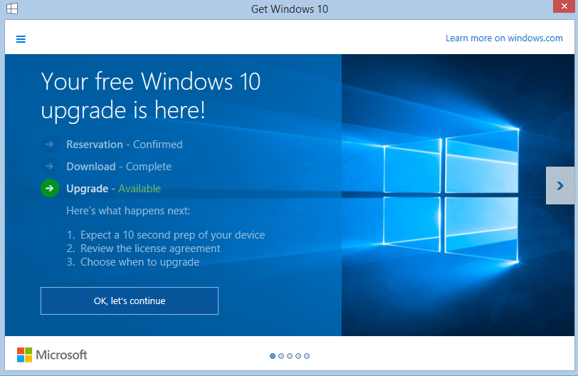 Your Free Windows 10 is Here
